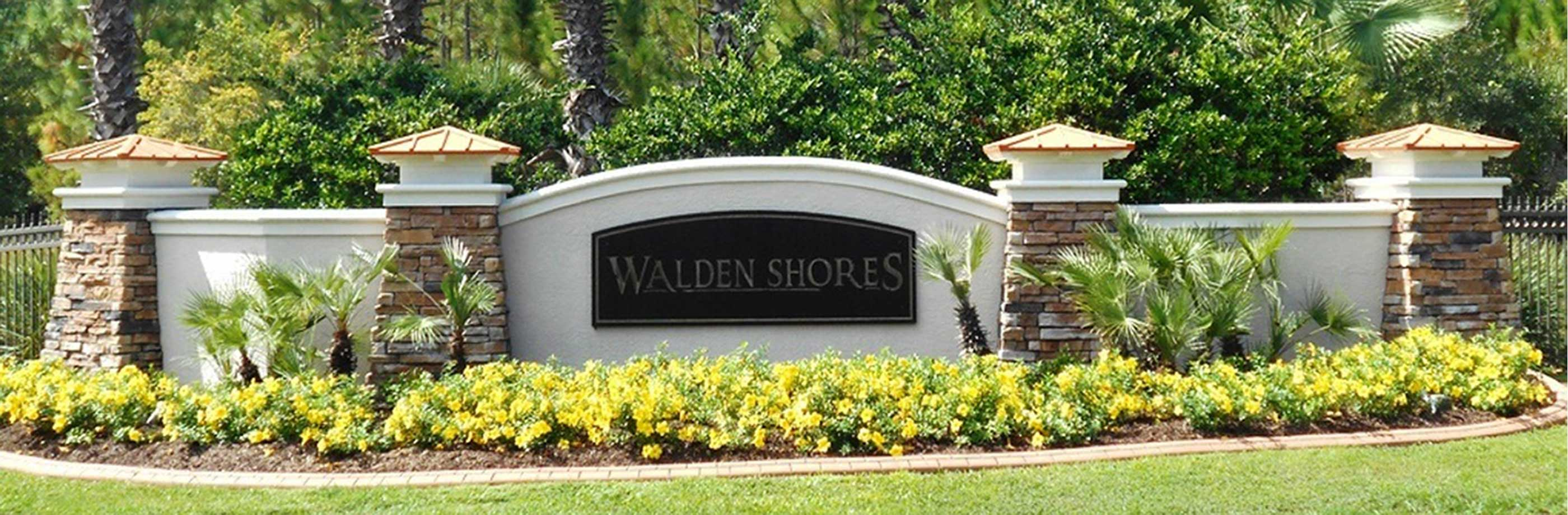 Front sign at Walden Shores